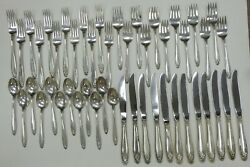 International Silver Prelude Sterling Service For 12 Excellent Condition No Mono
