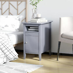 Elegant Small Side Table With 3 Layer Storage For Bed Room Or Home Office