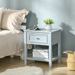 Square Accent End Table Side Table W/open Bottom Shelf Space For Living Room