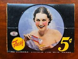 Rare Planters Peanuts Box With Pretty Girl Pop Up Pick Of The Plantation 1937