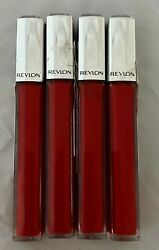 Lot Of 4 New Revlon Ultra Hd Lip Lacquer Lip Gloss In 560 Fire Opal Imperfect