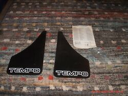 Vintage And Nos Ford Tempo Custom Splash Guards With Original Paper And Hardware