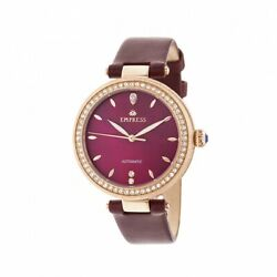 Empress Empem2304 Louise Womens Mother Of Pearl Leather Band Watch - Rose Gold And