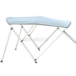 Boat Bimini Top 3 Bow Canopy Cover 54-90 Width 72 W Rear Poles And Storage Boot