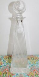Kristall Krisla Italy Triangle Square 25 Lead Crystal Liquor Decanter And Stopper