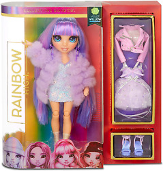 Rainbow High Fashion Doll Andndash Violet Willow - Lila Puppe Mit Luxus-outfits Access