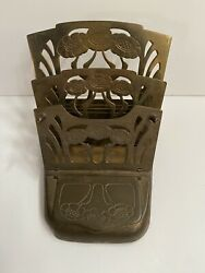 Art Nouveau Brass Stamp And Letter Holder Made In Germany