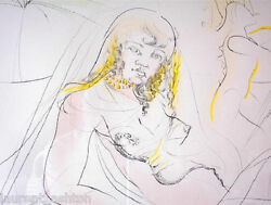 Rare Dali Signed Etching Cleopatra Queen Of The Nile