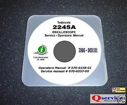 Tektronix Tek 2245a Service + Ops Manual Cd With Complete A3 Diagrams