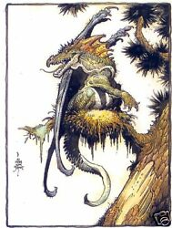 1993 William Stout Comic Images Collection Saurians And Sorcerers Promo-card