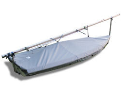 Laser Ii Sailboat Deck Cover - Polyester Charcoal Gray Boat Top Cover - Usa Made