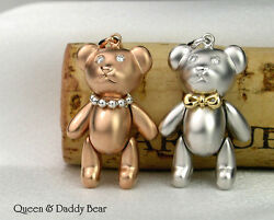 Bear White & Rose 18K(750) rose white gold bear design limited edition pendants