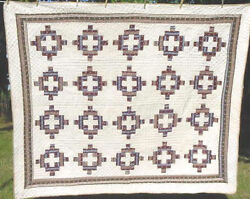 Early 1870s Hand Pieced Album Patch Antique Quilt