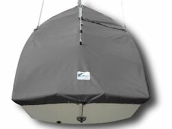 Mutineer Sailboat - Boat Mast Up Cover - Polyester Charcoal Gray Mooring Cover