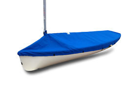 Finn Sailboat - Boat Mast Up Cover - Polyester Royal Blue Top Cover - Usa Made