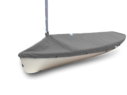 Finn Sailboat - Boat Mast Up Cover - Polyester Charcoal Gray Top Cover - Quality