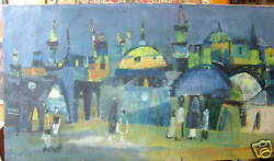 Jewish Judaica Meir Steingold Oil Paintingsigned