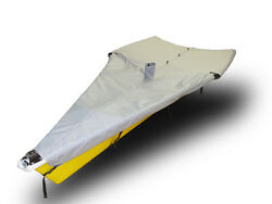 29er Sailboat - Boat Mast Up Flat Cover - Polyester Charcoal Gray Mooring Cover