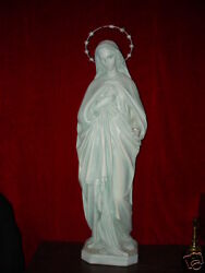 ANTIQUE STATUE IMMACULATE HEART OF MARY CHURCH SIZE