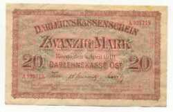 Germany Wwi Occupation Of Lithuania 20 Mark 1918 468