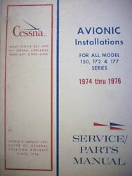 Cessna Arc Factory Avionics Wiring Book 1974 To 1976 C-150 172 And 177.