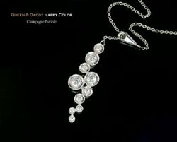 Queen And Daddy Champagne Bubble 18k750 White Gold Diamond Pendant