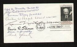 First Day Cover Signed Autographed By 8 Wwii Generals Psa/dna Authenticated