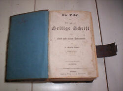 1864 German Bible With Metal Clasp