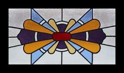 Classic Art Deco English Stained Glass Window