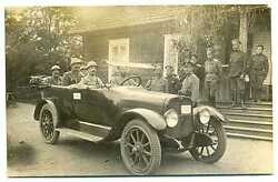 Russian Wwi Front Staff Officers Orders Badges Car French General Photo 1914