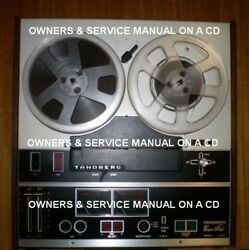 Tandberg 3300x Reel To Reel Owners And Service Manual On A Cd Free Shipping