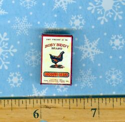 Dollhouse Miniatures Size Victorian Busy Biddy Rolled Oats Box Bb