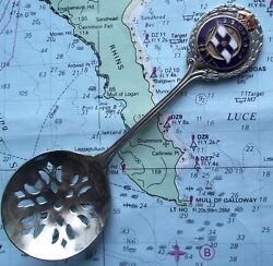 Ss Orsova Orient Shipping Line Strawberry Sifter Spoon