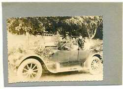 Russian Wwi Military Pilots In The Car Real Photo St. George Cross