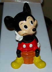 Vintage Mickey Mouse Bank Plaster Composition Japan C. 1960's Wdp