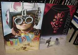 Star Wars Episode 1 Lot Of 2 Store Displays Hang From Ceiling