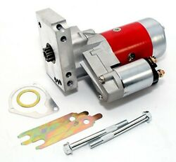 Red High Torque Mini Starter Small And Big Block Chevy 153 168 Tooth Compatible
