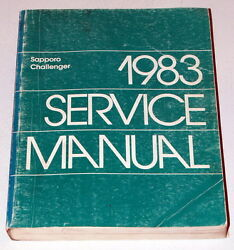 1983 DODGE CHALLENGER PLYMOUTH SAPPORO COUPE Factory Shop Service Repair Manual