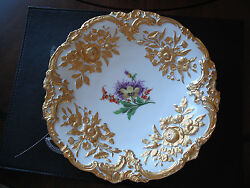 Meissen Plates Germany Lot Of 2 Guilded Gold Plates + Extra Gift