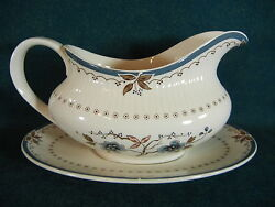 Royal Doulton Old Colony Tc1005 Gravy Boat With Separate Under Plate