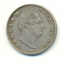 India British East India Company Silver 1 Rupee 1835 Rs Thin Lettering Vf Scarce