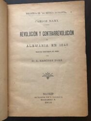 1903 First Edition In Spanish- Prologue By The Daughter Of Marx