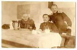Russian Wwi Air Force Base Officers Pilots Real Photo