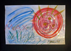ORIGINAL WATERCOLOR FINE ART PAINTING abstract landscape Life Spring C PETERSON