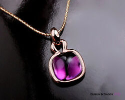 Queen And Daddy 18k750 Rose Gold Alluring Amethyst Sweet Jelly Pendant