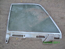 1961 61 Lincoln Continental Drivers Rear Window Glass Oem Frame Chrome 62 63