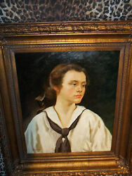 School Boy Wood Frame Museum Quality Masters Style Reproduction Oil Painting