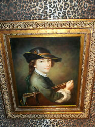 Scholar W Portfolio Museum Quality Masters Style Reproduction Oil Painting