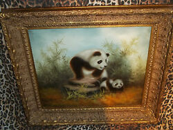 Frolicking Pandas Museum Quality Masters Style Reproduction Oil Painting