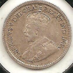 1915 EXTREMELY FINE Canadian Five Cents Silver #1